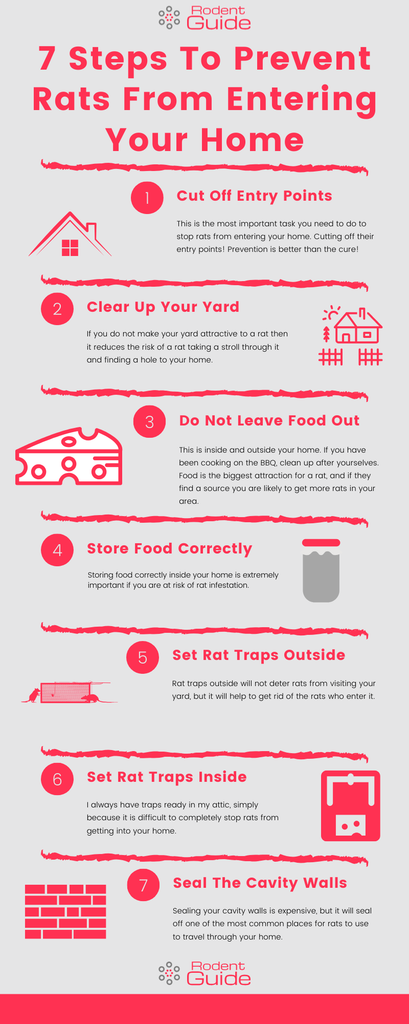 Prevent Rats from entering your home infographic