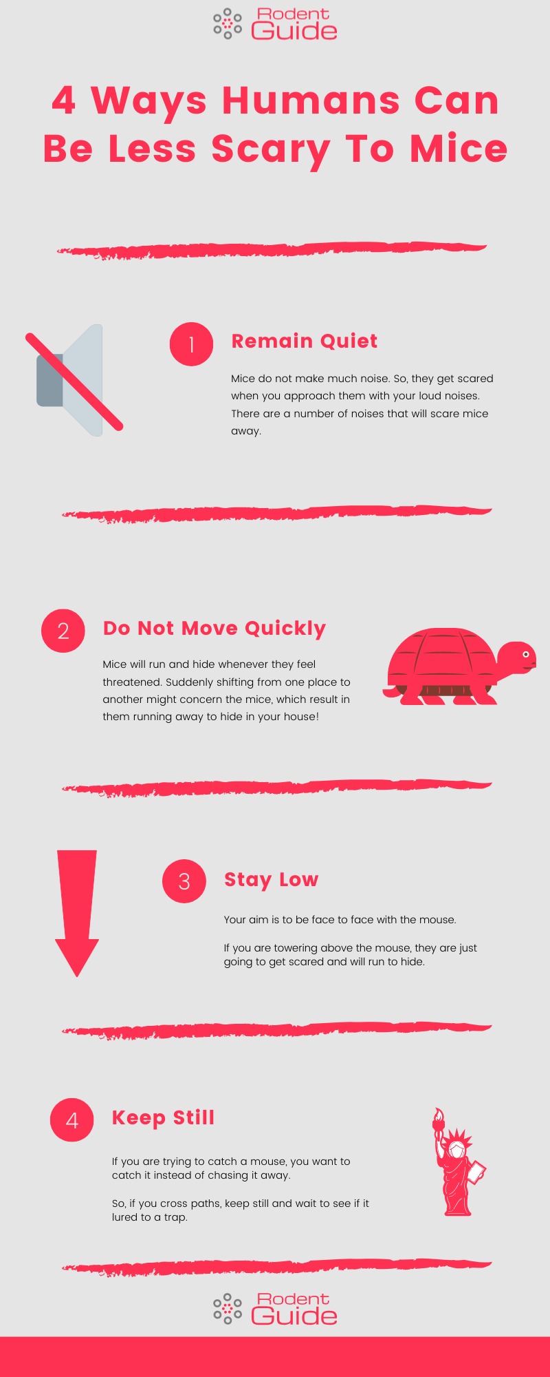 4 Ways Humans Can Be Less Scary To Mice Infographic