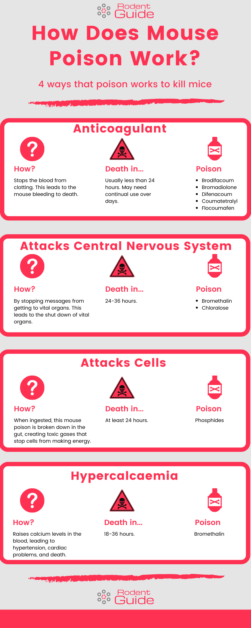How Does Mouse Poison Work Infographic